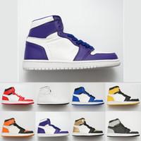 watch c9432 38172 2019 colorido 1 1s zapatos de baloncesto hombres mujeres alta calidad rojo  blanco negro marca de