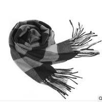 새로운 겨울 남성 스카프 남성과 여성 스카프 순수한 캐시미어 스카프 두꺼운 정통 영국 격자 무늬 캐시미어 스카프