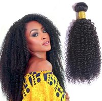 Brazilian Hair Kinky Curly hair Bundles with Lace Closure 10...
