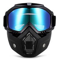 Erkekler Kadınlar için açık Bisiklet Gözlük Yüksek Sınıf Şeffaf Lens Rüzgar Geçirmez Gözlük Kapalı yol Motosiklet Kask Maske