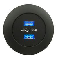 Puerto de cargador móvil USB dual Material de hardware de muebles Sofá Accesorio Enchufe DC5521 Entrada de terminal 5V 2A 1m Cable Conexión de muebles