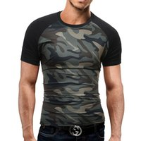 New Summer Military Camouflage Men T- shirt Casual Tactical A...