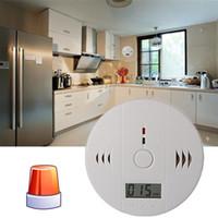 Sistema di allarme del rivelatore del monossido di carbonio di CO per l'intossicazione di sicurezza domestica Allarme d'avvertimento del sensore del gas del fumo LCD del tester con la scatola al minuto