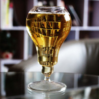 Bere Ware Retro Light Bulb High Foot Boccali di birra Steins Good Borosilicate Glass Retro Home Fashion Simple Party Coppa del vino KTV Juice Cup
