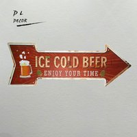 DL- ICE COLD BEER ENJOY YOUR TIME Vintage Classic Irregular P...
