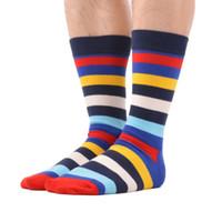 5 par / lote calcetines divertidos para hombres calcetines finos raya raya de algodón rejilla calcetines geométricos de tubo tridimensional envío directo