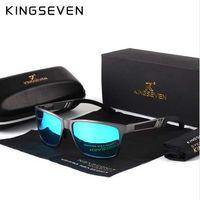 KINGSEVEN Hombres Gafas de Sol Polarizadas Aluminio Magnesio Gafas de Sol Gafas de Conducción Rectángulo Tonos Para Hombres Oculos masculino Masculino