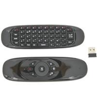 C120 البسيطة 2.4G اللاسلكية لوحة المفاتيح USB استقبال يطير الهواء ماوس الأزياء البعيد لوحة المفاتيح الاستشعار ماوس الألعاب الذكية للتلفزيون الروبوت TV BOX
