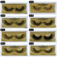 3D Mink eyelashes Thick real mink HAIR false eyelashes natur...