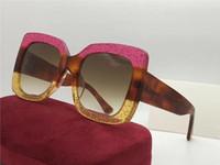 0083 Beliebte Sonnenbrille Frauen Sonnenbrille Designer 0083s Quadratisch Sommer Stil Full Frame Top Qualität UV-Schutz Mischfarbe Kommen Sie mit Box