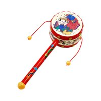 Christmas Handy Drum Shaped Rattle Environmental Protection ...
