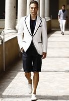 Custom Made Men Suit White Black Short Pants Wedding Suits S...