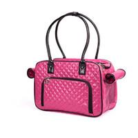 2018 الأزياء السلامة الأسود Mochila Perro حاملة حقيبة جلدية PU حقائب السفر كاري للشركات الصغيرة الكلاب حجم 40 * 27 * 17CM شحن مجاني