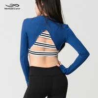 Mermaid Curve Sexy Women Back Hollow Out Crop Top Female Spo...