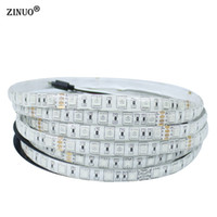 ZINUO 5 M 24 V IP65 À Prova D 'Água Flexível Tira CONDUZIDA 5050 300led Iluminação Led Tape Decoração Ao Ar Livre Led Fita WarmWhite Branco RGB