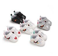 Cartoon Infant stripe sneakers bees embroidery Baby first wa...