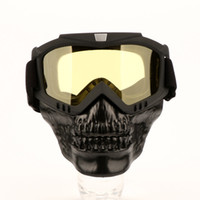 Motorcycle Protective Skull Face Mask Motocross Goggles ATV Dirt Bike UTV Eyewear Motor Bike Windproof Skeleton Goggles