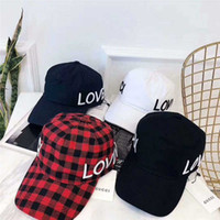 Loved Embroidery Golf Cap G Deisgner Retro Plaid Strapback H...