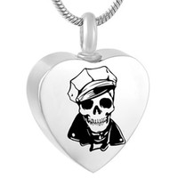 Stainless steel Cremation Jewelry Sketch Image Memorial Urn Necklace for Ashes Keepsake Pendant Fashion jewelry Pendant