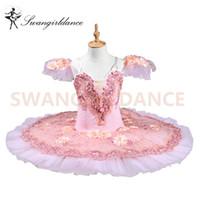 Performance Stage Tutu Dress BT8978 Rose Fleur Fairy Femmes Adulte Professionnel Ballet Tutu Swan Lake Costumes Ballerine