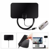 Plat d'amplificateur de signal HD Indoor HD Antenna TV numérique 50 miles Plage Skywire