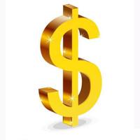 dinero pagar el coste de caja adicional o envío de DHL sólo 1 unidad = 1 USD