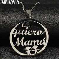 2018 Fashion Te Quiero Mama Stainless Steel Necklaces Pendan...