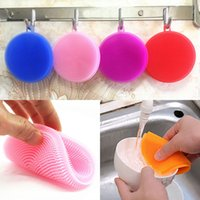 New Multifunction Silicone Dish Bowl Cleaning Brush Scouring...