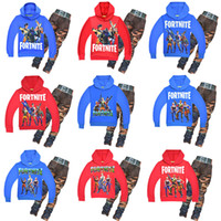 Baby boys Fortnite print outfits 2018 autumn children Hoodie...