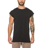 2018 Vêtements de mode fitness t-shirt hommes de mode s'étendent longtemps tshirt gymnases d'été à manches courtes t-shirt en coton bodybuilding crossfit tops