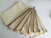 100pcs New 7. 67inch*4. 33inch Black&beige Gold zipper cotton ...