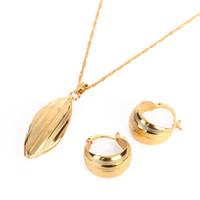 Ethiopian Earring Pendant Set Joias Ouro 24K Gold Filled Jew...