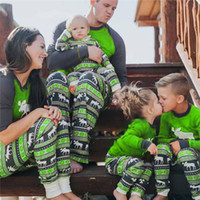 2018 Christmas Kids Adult Family Matching Pajamas Set Long Sleeve Top and  Pants Xmas Deer Reindeer Parents Childen Sleepwear Nightwear best 897066b5d