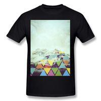 T-shirt da uomo a triangolo in cotone da uomo in cotone all'ingrosso T-shirt a maniche corte bianca da uomo T-shirt a maniche lunghe
