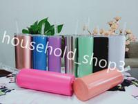 20 Unzen Edelstahl dünne Tumbler Double Wall Vacuum isolierte Sippy Tasse Custom-Logo enthält Stroh und Deckel