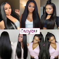 Onlyou Saç @ Ipeksi Düz Dantel Ön Peruk Brezilyalı Virgin İnsan Saç Kadınlar için Tam Dantel Peruk Doğal Renk 8-24 inç İnsan Saç Dantel Peruk