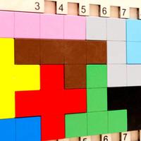 Bambini Puzzle di legno Bambini Tangram geometrico Puzzle Puzzle Rompicapo Gioco Tetris Montessori Giocattolo educativo Regalo