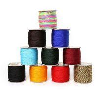 cavo di gioielli 2mm 60 m filo di nylon nodo cinese macrame cord braccialetto intrecciato stringa fai da te nappe che borda shamballa stringa trovare
