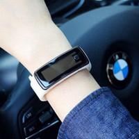 2018 Hot sal venta al por mayor Nueva Moda Sport LED Relojes Candy Jelly hombres mujeres Silicona Rubber Touch Screen Relojes Digitales Pulsera reloj de pulsera