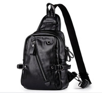 30pcs Men PU Casual Classic Black Crossbody Bag With headpho...