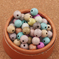 Colorful Stardust Round Matte Loose Beads 8mm 800Pcslot Mixed Acrylic Plastic, Lucite Fashion JewelryL3042