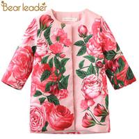 Líder do urso Meninas OuterwearCasacos 2018 Primavera Crianças Casacos Rose Floral Pattern Design para Crianças Casacos Crianças Outerwear 3-8Year