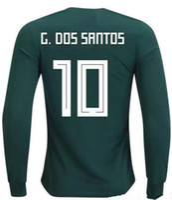 19-20 Meksika Tayland Kalite Uzun Kol 10 G.Dos Santos Futbol Formaları Gömlek, 14 Chicharito J.Hernandez 11 Carlos V 9 R. Jimenez 7 M. Layun