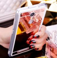 Glitter Bling Miroir Plaquant Couverture souple acrylique TPU pour Xiaomi Mi 9 SE Lite 6X Max 3 Mix 2S F1 redmi Note 8 7 Pro 6 6A 7A K20