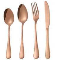 Fancy Wedding Rose Gold Cutlery Set, Shiny Rose Gold Flatwar...