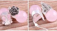 Pendientes de plata esterlina con marcasitas de Opal 925 rosa de ShippingVintage gratis