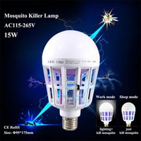 15W LED Mosquito Killer Lamp Light Friendly Photocatalyst Mo...