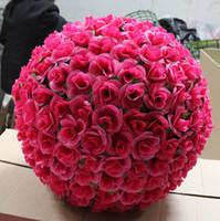 """20pcs / lot12 """"30 cm simulación artificial flores de seda besos bola para la boda decoración del partido del día de San Valentín 8 colores en stock"""