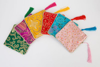 20pcs bijoux emballage cadeau de mariage poche pochette tissu tissu de soie sacs