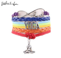 Little MingLou 7 Chakra Unendlichkeit Liebe Yoga Armband Hatha Yoga Meditation OHM Asana Sport Charme Männer Armbänder Armreifen für Frauen